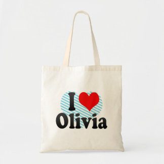 I love Olivia Budget Tote Bag