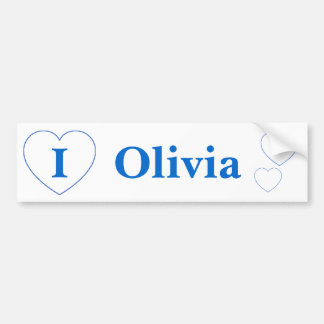 I Love Olivia Bumper Sticker