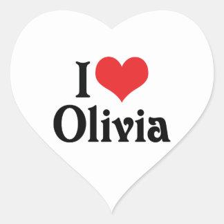 I Love Olivia Heart Sticker