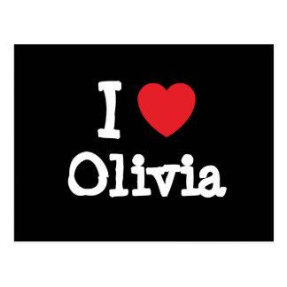 I love Olivia heart T-Shirt Postcard