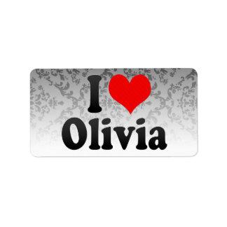 I love Olivia Address Label