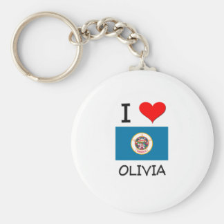 I Love Olivia Minnesota Basic Round Button Keychain