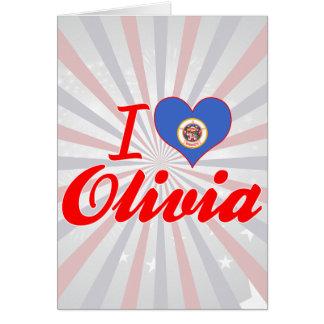 I Love Olivia, Minnesota Greeting Cards