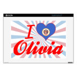 I Love Olivia, Minnesota Decal For Laptop