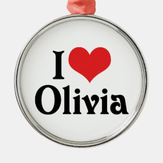 I Love Olivia Christmas Tree Ornament