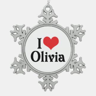I Love Olivia Ornaments