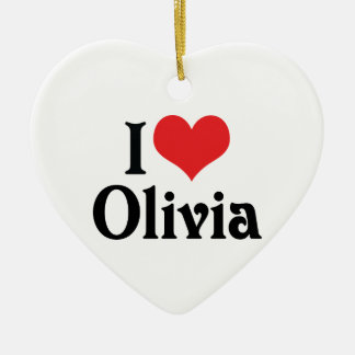 I Love Olivia Christmas Ornament