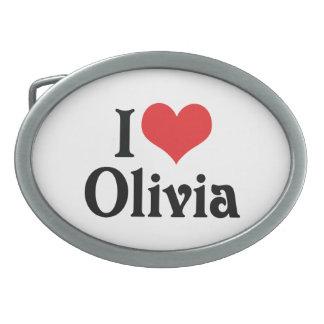 I Love Olivia Oval Belt Buckles