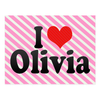 I Love Olivia Postcard