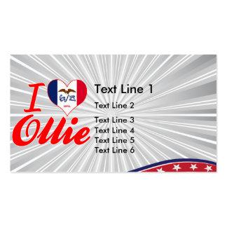 I Love Ollie Iowa Business Cards