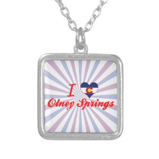 I Love Olney Springs, Colorado Personalized Necklace