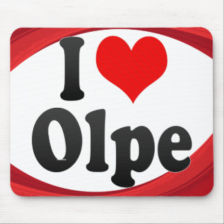 I Love Olpe Germany Ich Liebe Olpe Germany Mousepad