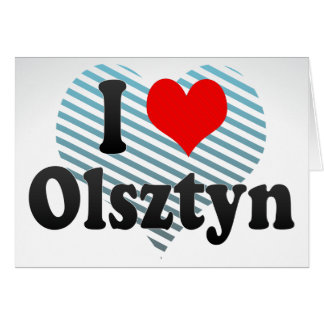 I Love Olsztyn, Poland Card