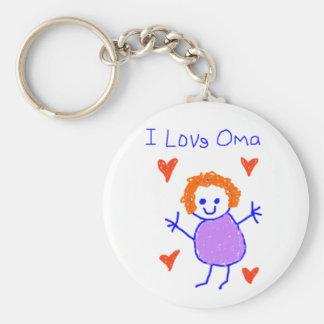 I Love Oma Keychain