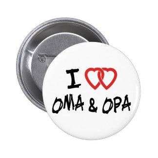 I Love Oma & Opa Button