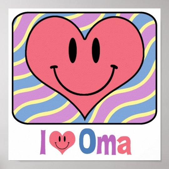 I Love Oma Poster