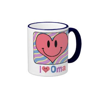 I Love Oma Ringer Mug