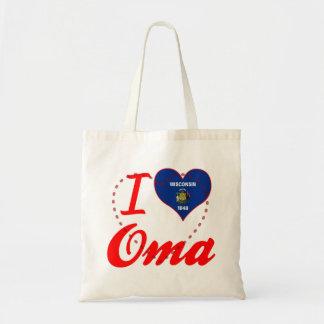 I Love Oma, Wisconsin Canvas Bag