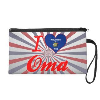 I Love Oma, Wisconsin Wristlet Clutch