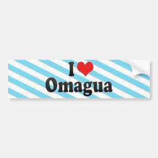 I Love Omagua Car Bumper Sticker