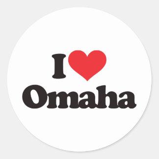 I Love Omaha Classic Round Sticker