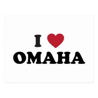 I Love Omaha Nebraska Postcard
