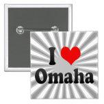 I Love Omaha, United States Pin