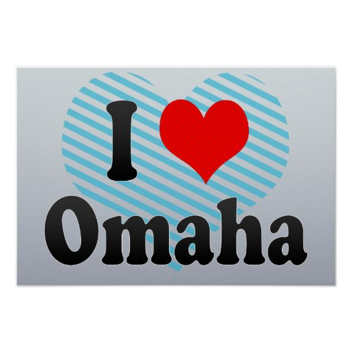 I Love Omaha, United States Posters