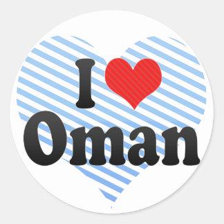 I Love Oman Classic Round Sticker