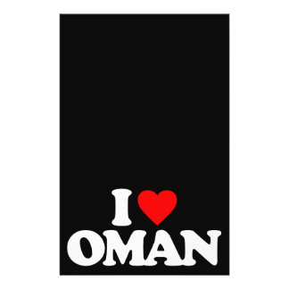 I LOVE OMAN PERSONALIZED FLYER