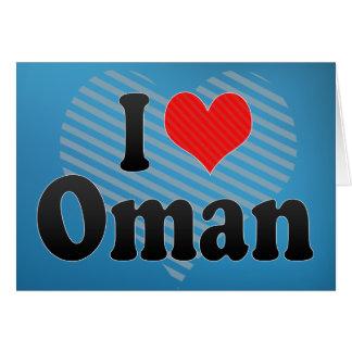 I Love Oman Greeting Card