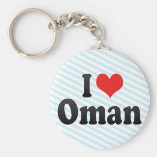 I Love Oman Keychain