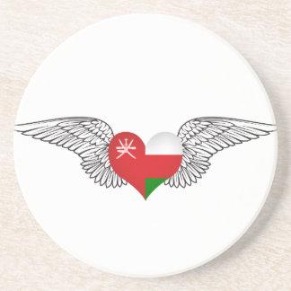 I Love Oman -wings Beverage Coasters