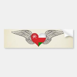 I Love Oman -wings Car Bumper Sticker