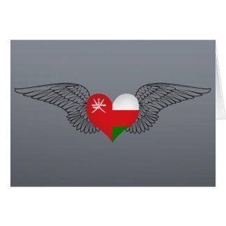 I Love Oman -wings Greeting Card