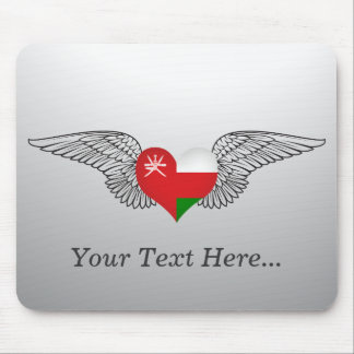 I Love Oman -wings Mouse Pad