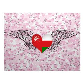 I Love Oman -wings Postcard