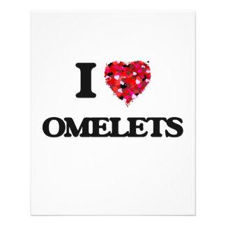 "I Love Omelets 4.5"" X 5.6"" Flyer"