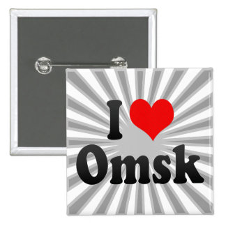I Love Omsk, Russia Pinback Buttons