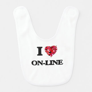 I Love On-Line Baby Bib