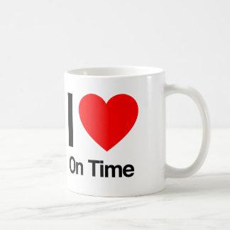 i love on time mug