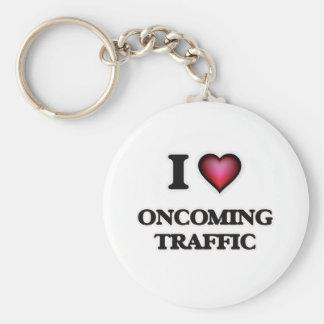 I Love Oncoming Traffic Keychain