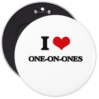 I Love One-On-Ones Pinback Buttons