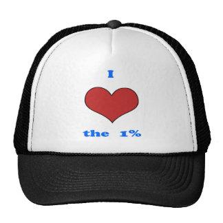I Love One Percent Trucker Hat