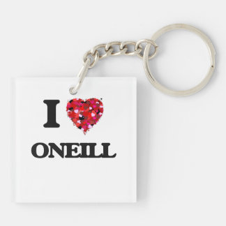 I Love Oneill Double-Sided Square Acrylic Keychain