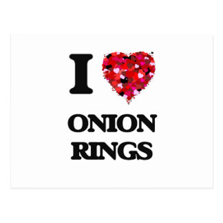 I Love Onion Rings food design Postcard