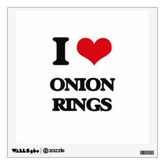 I Love Onion Rings Room Sticker