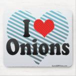 I Love Onions Mouse Pad
