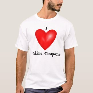 I Love Online Coupons Tee Shirt