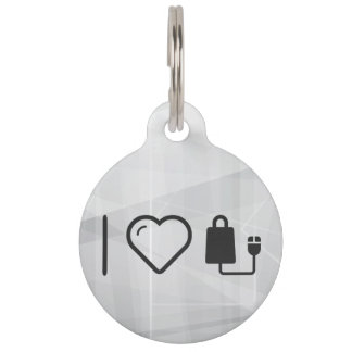 I Love Online Stores Pet ID Tags